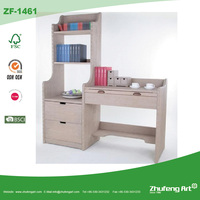Factory Direct Antique Combination Wooden Bookcase with Study Computer Table Designs for Children