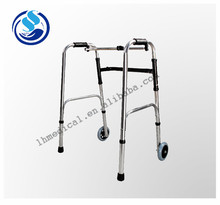 The utility model relates to an adjustable walking aid device for a very convenient old person