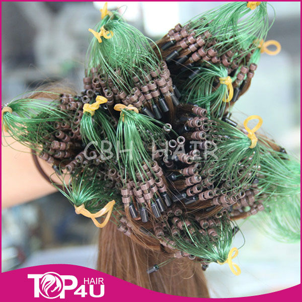 2 silicon beads micro rings loop hair