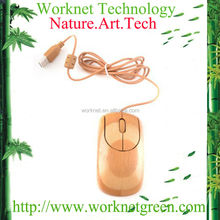 2014 best selling ergonomic 2.4g wired optical bamboo mouse with 1000DPI