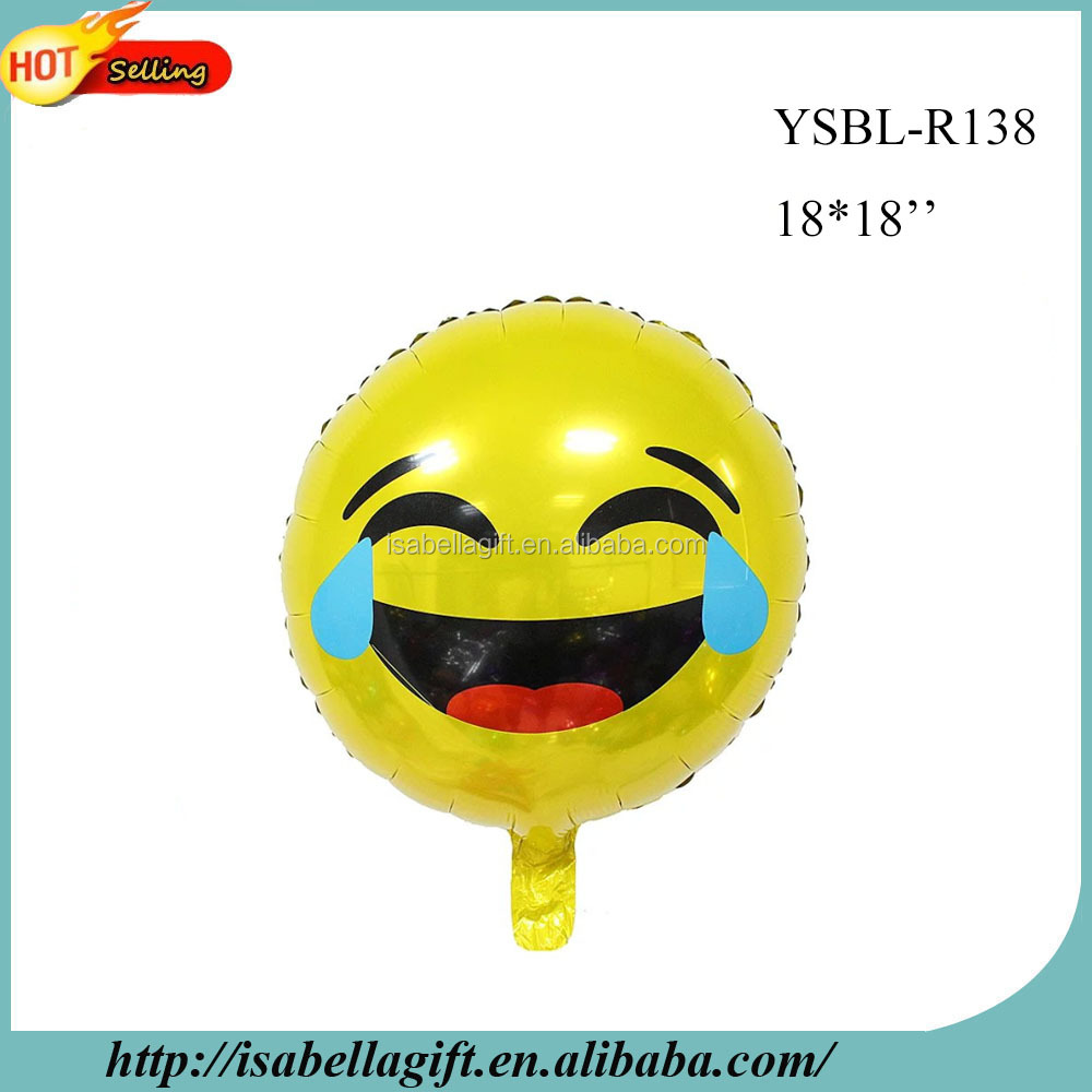 Free Shipping Party Supplies Custom Cry Emotion Emoji Helium Mylar Foil Balloon