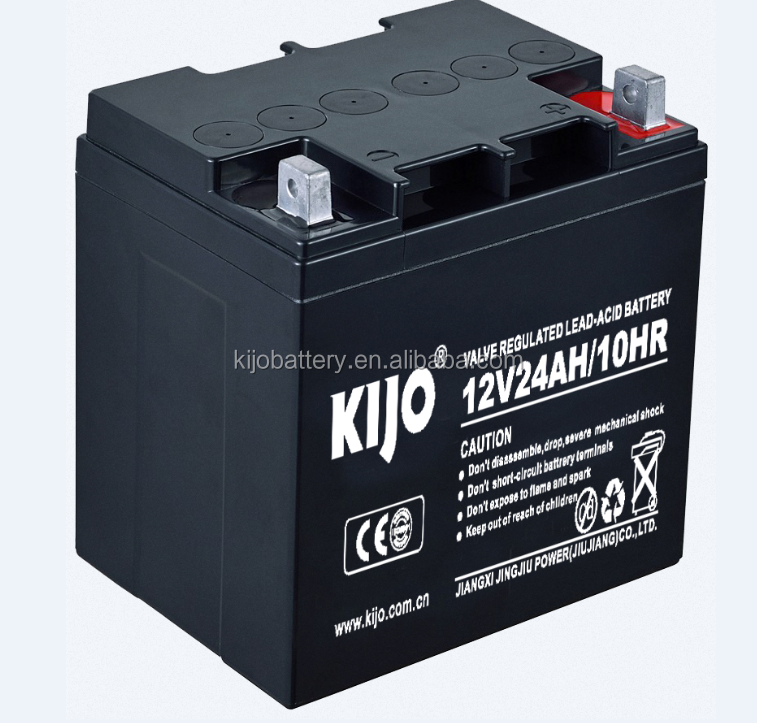 12V 24ah lead acid battery for ups and lighting