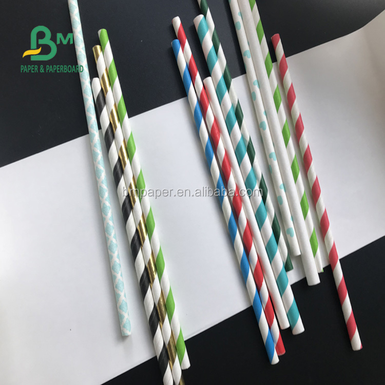 FSC 26g 28g 60g 120g wholesale competitive price white drinking straw paper roll