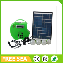 10W polycrystalline solar module home lighting DC 12V Solar Power System with 7ah 12v battery inside