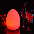 Egg shaped battery operated mini coffee table lamp