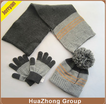 Adults Unisex Knitted Hat/Scarf/Magic Glove Accessory Set