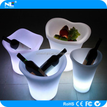 attractive durable LED lighted ice bucket / LED plastic ice bucket