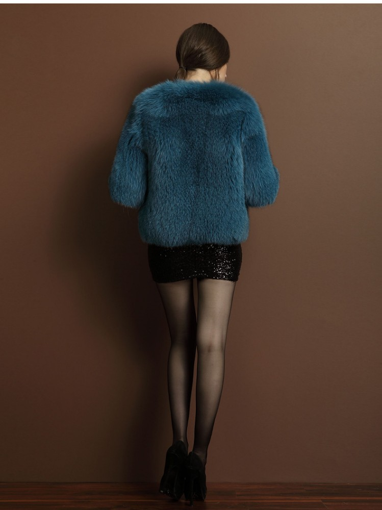 Janefur Lady's Thicker Fox Fur Coat/Wholesale And Retail