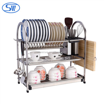Sheenwe three layer combined stainless steel kitchen dish rack plate rack dish storage  sc 1 st  Guangzhou SHI-WEI Metal Products Co. Ltd. - Alibaba & Sheenwe three layer combined stainless steel kitchen dish rack plate ...