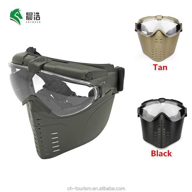 custom army green uv400 anti-fog impact electric fan full face military tactical ballistic paintball mask