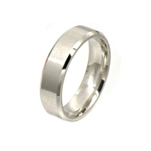 Solid Silver Color Stainless Steel Engagement Wedding Minimalist Mens Ring Jewelry