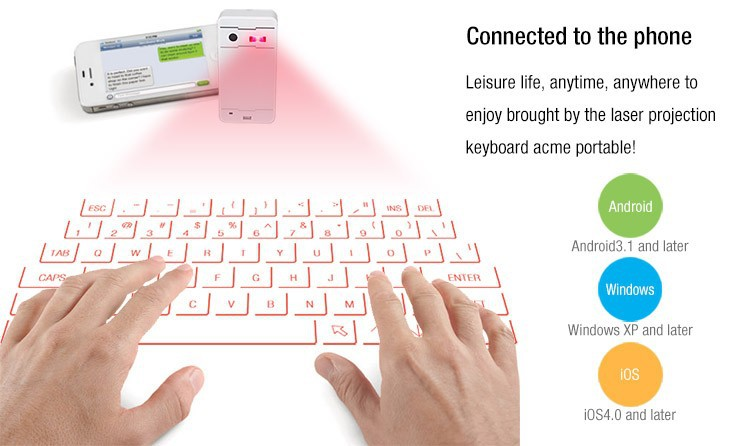 2015 HOT bluetooth illuminated virtual laser keyboard with speaker