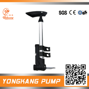 Iron material mini pump to inflate ball pump with gauge and valve