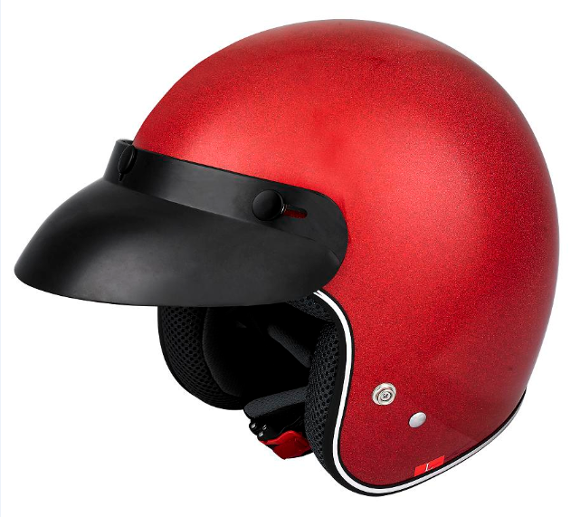 Flash Red Color Newest Models Half Face Motorcycle Helmet