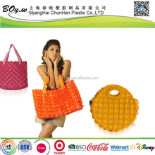 factory hot sale customized tote handbags lady pvc inflatable shopping bag
