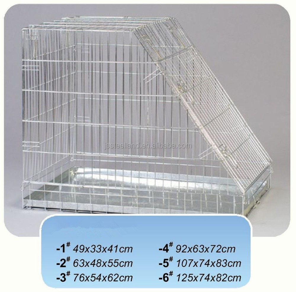 factory price zinc plated dog cage one door pet products