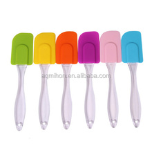 Bakery Tools/Colorful Silicone Spatula with Transparent Handle