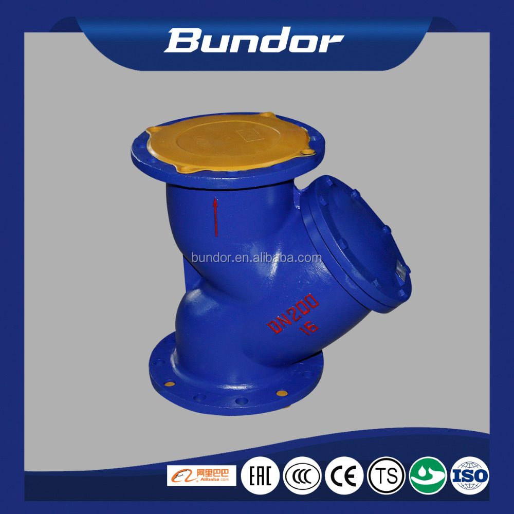 DIN standard pn16 industrial dn15-dn300 flanged cast iron y type strainer