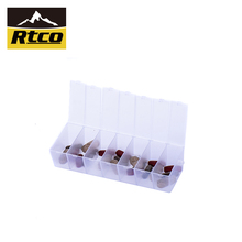 Private labels removable 7 day pill organizer weekly pill box from china