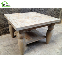 Antique Rectangular Table Reclaimed Wood Design Coffee Table