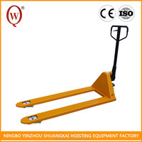 Material Handling Tools 3 Ton HPT6180-3T PU or Rubber High Lift Hydraulic Long Fork Hand Lift Pallet Truck With Hand Brake