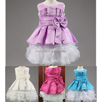 2016 Instyles latest tulle flower girl dress pattern baby girl dress