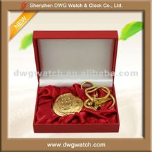 Mens Gold Chain Pocket Watch with Gift Box