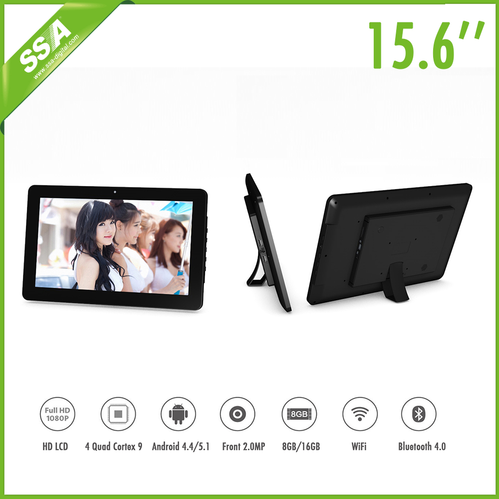 15.6 inch 2016 Hot sell digital signage web content led notice board media player