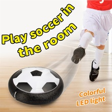 New Arrival Air Power Soccer Hover Ball Colorful Disc Indoor Football Toy Kids Multi-surface Hovering and Gliding Toy