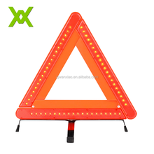 china manufacturer car accessory traffic sign PMMA sign reflector e-mark led lights warning triangle for road safety