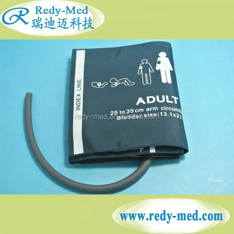 Single tube adult size blood pressure reusable nibp cuff