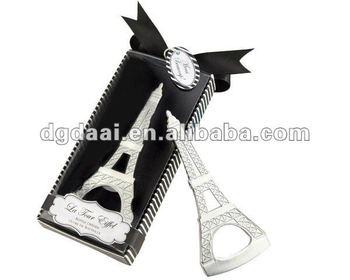special eiffel tower customized logo bottle opener. Black Bedroom Furniture Sets. Home Design Ideas