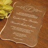 Elegant Laser Cut Custom Acrylic Wedding