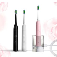 New design wireless charging automatic adult electric sonic toothbrush with Dupont filament for normal use
