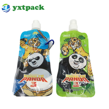 custom reusable aluminum foil food packaging standing pouch for drink juice liquid spout bag price