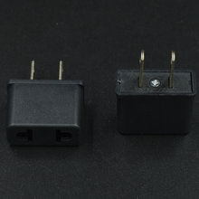 Alibaba usa EU to US 2 pin plug ac dc converter female to male electrical plug adapter