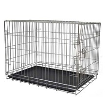 Good quality heavy duty extra mobile folding friendly pet crate extra large dog crate