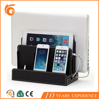 Hot Selling PU Leather Charging Station Desk Organizer