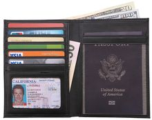 Alibaba China RFID Blocking Leather r Travel Wallet personalized Passport Holde