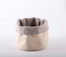 China manufacturer 100%cotton canvas eco-friendly fabric washable bread basket
