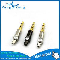 2016 new gold plated straigth/L shape 3.5 mm stereo connector