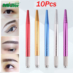 Midelr Gold Colors Microblading Hand Kits/Pen, 14cm*0.9cm Size Manual Permanent Makeup Tattoo Pen for Eyebrow