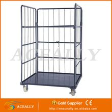 300kg platform trolley roll cage 2 shelf trolley