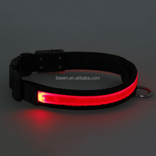 Import Product Ideas Solar Inflatable Dog Collar Pet Prodcut Colorful LED Bracelet Dog Collar