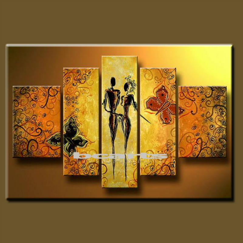 New design hand painted abstract nude painting modern portrait paintings hot sex woman pictures on canvas