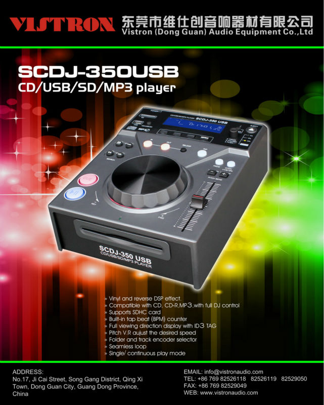 SCDJ-350USB China factory produce mini CD player