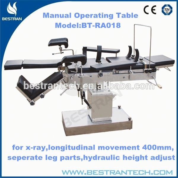 China BT-RA018 Cheap Hospital manual operating theatre table, operating table for hair transplantation