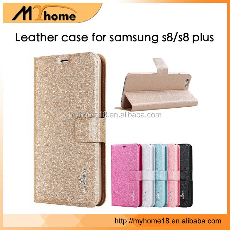 Wholesale PU Leather Flip Case cover For Samsung Galaxy S8, For Samsung Galaxy S8 Edge Case Wallet Leather Case