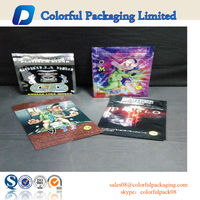 small Herbal Incense Foil Plastic Ziplock Bag Spice Smoking Bag Tobacoo Potpourri Bag With Tear Notch
