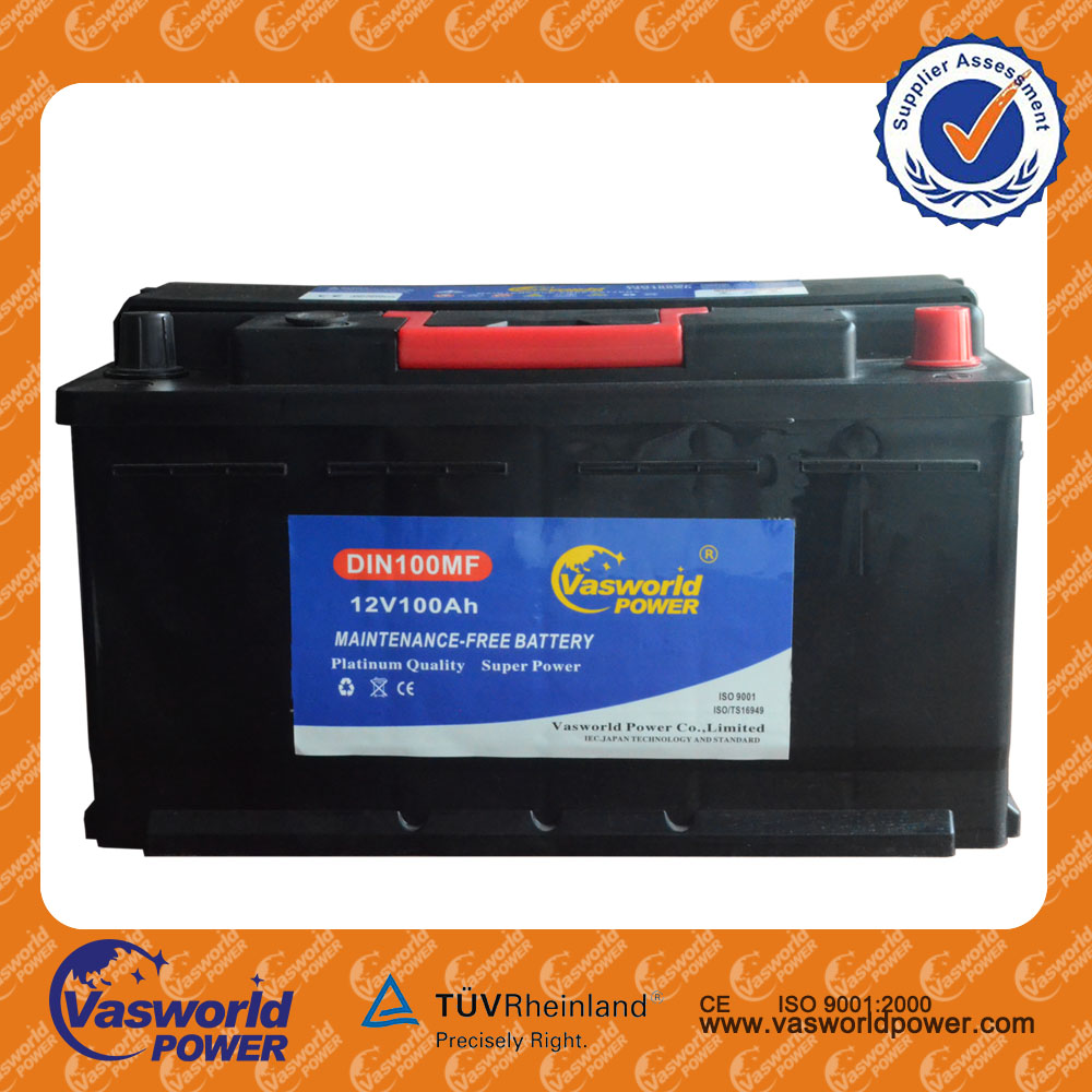 hot Super Power 12V Europe standard DIN 100AH maintenance free Acid Auto/Car Battery in Bulk producing